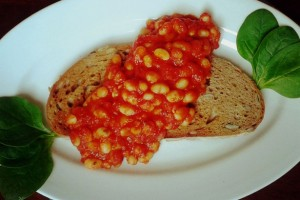 Sült bab (Baked beans)