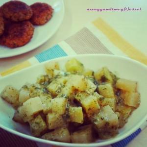 Zöldfűszeres - mustáros karalábéfőzelék