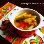 Cukkini gyros kapros – fokhagymás öntettel (tejmentes, tojásmentes, vegán recept)