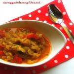Sült paprikás padlizsánkrém (tejmentes, tojásmentes, vegán recept)