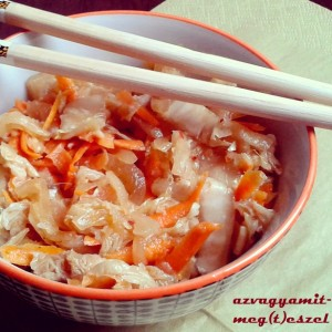 Kimchi - koreai csípős káposzta
