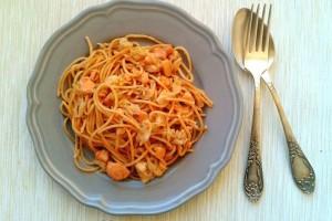 Spagetti lazaccal és kelkáposztával