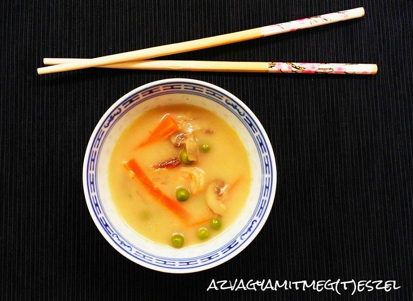 Thai leves garnélával