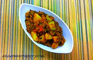 Curry csicseriborsóval, vadrizzsel és kurkumával