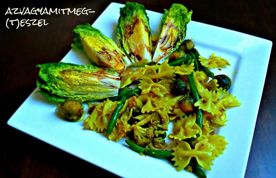 Tavaszváró tészta zöldségekkel, fokhagymával és olívával