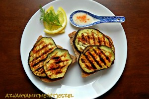 Grillezett padlizsános szendvics