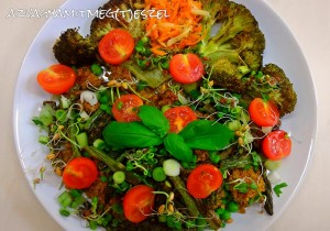 Quinoa-spárga-brokkoli egytál
