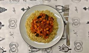 Csicseriborsó - padlizsán curry