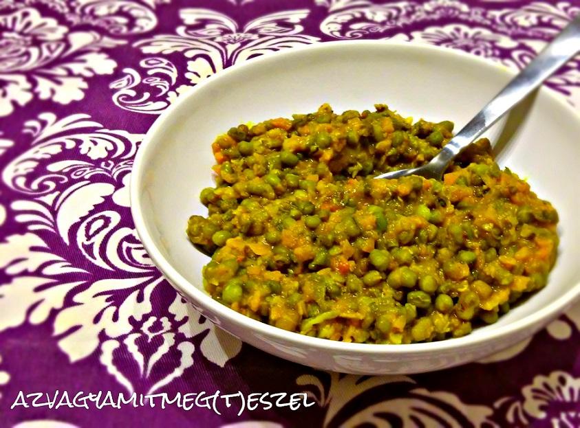 Curry-s mungóbab főzelék