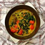 Tojásmentes rántotta lecsóval (glutén-, tej-, tojásmentes, zsírszegény, vegán recept)