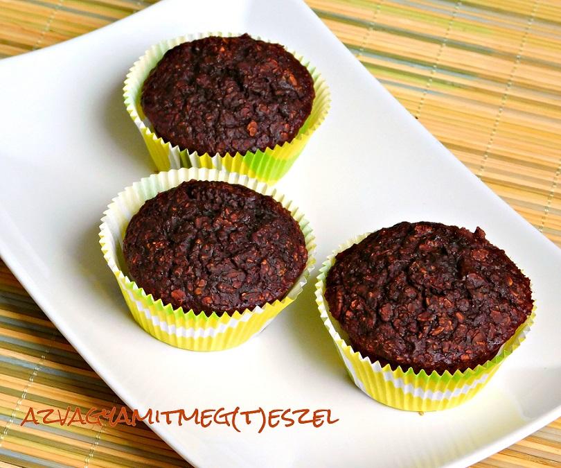 Csokis zabpehely muffin