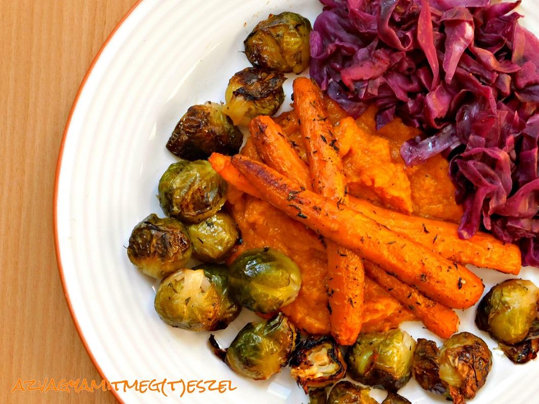 Kakukkfüves sült zöldségek