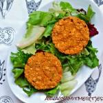 Pirított tofukockák őszi zöldségpürével (tejmentes, tojásmentes, zsiradékmentes, vegán)