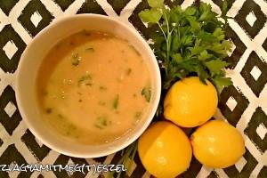 Zöldfűszeres, mustáros sárgaborsófőzelék
