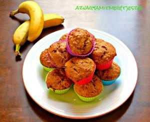 Banános almás muffin