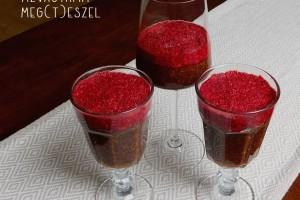 Csokis-málnás pohárkrém